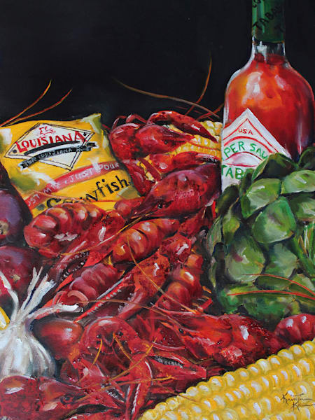 Crawfish Boil Art | Kristine Kainer