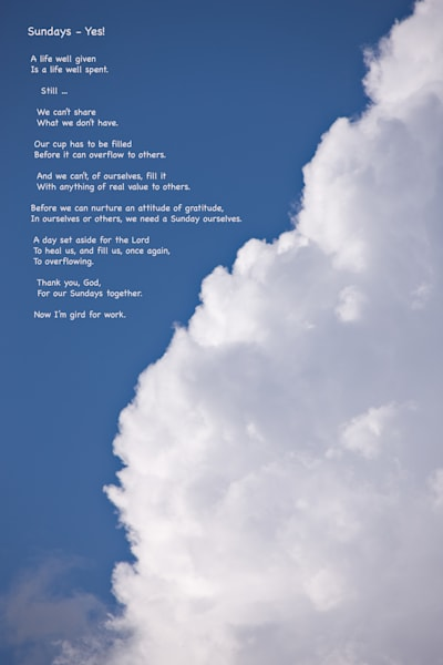 "Inspired Clouds - ""Sunday Yes"" quote - shop prints 