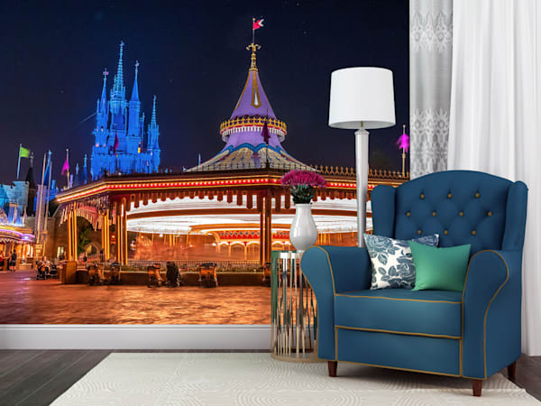 Prince Charming Regal Carousel - Magic Kingdom Wall Murals