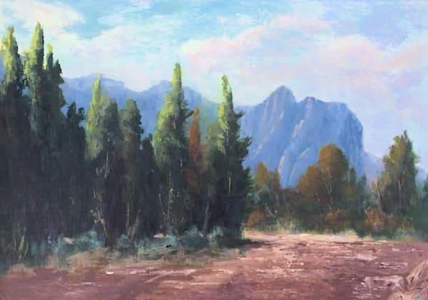 Yosemite, Awhahne, Valley, Acrylic, painting, Miwok