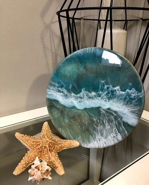 Oregon Resin Painting | Ocean Artwork