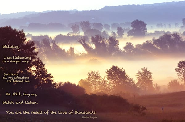 Morning on the Ice Age Trail with quote - shop prints | Closer Views