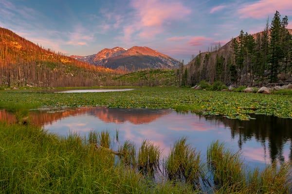 Sunrise Photo of Cub Lake Rocky Mountain National Park Colorado