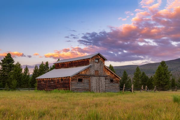 Photo of Little Buckaroo Barn RMNP Colorado - Wall Prints for Sale