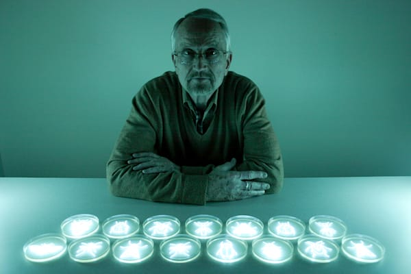 The Entomologist I: Portrait of Bob Hamilton, Bioluminescent Photograph by Hunter Cole