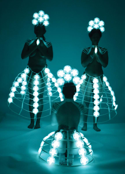 Praying to the Goddesses: Photo by the Light of Bioluminescent Bacteria by Hunter Cole