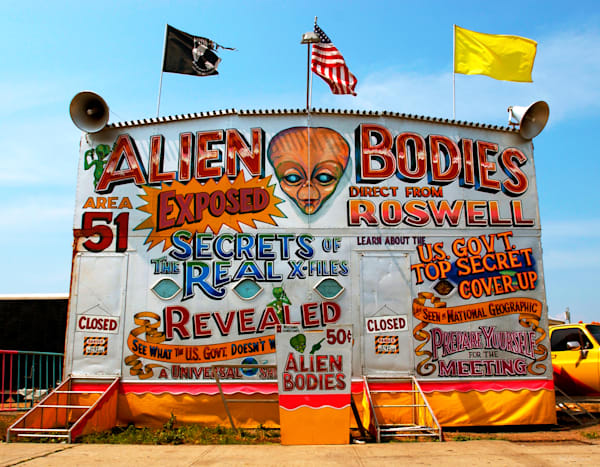 Alien Bodies display at Coney Island, Brooklyn, New York as photographed by Ted Morrison