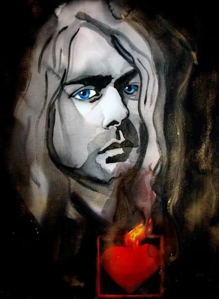 Kurt Cobain 2 Art | William K. Stidham - heART Art