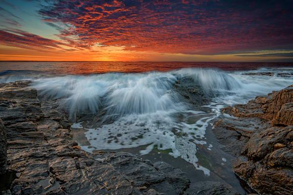 Waves Crash at Daybreak by Rick Berk