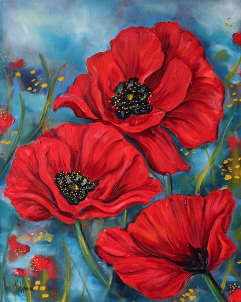 Red Poppies Art | Kristine Kainer
