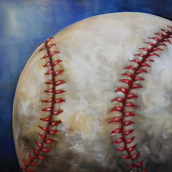 Baseball Original Oil Painting by Kristine Kainer