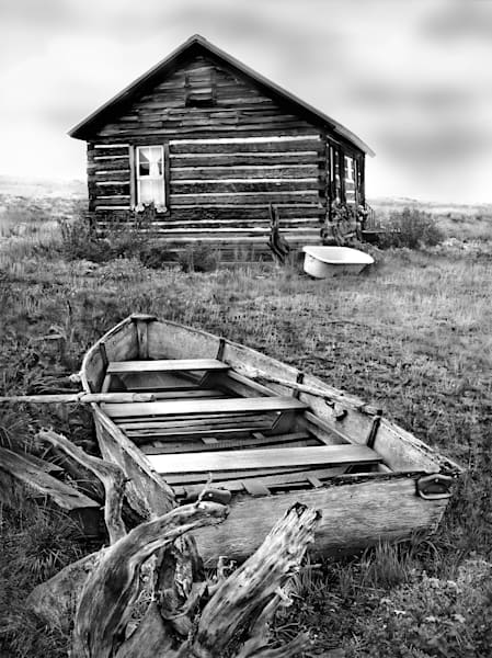 Americana fine art black and white photograph: Be Pepared, Red Feather Lakes, Colorado by fine art photographer, David Zlotky.