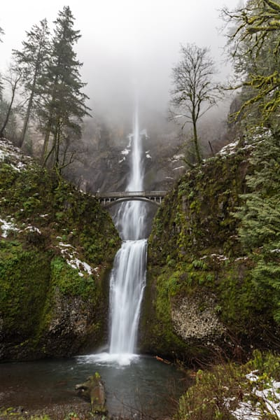 Multnomah Falls Winter Fog