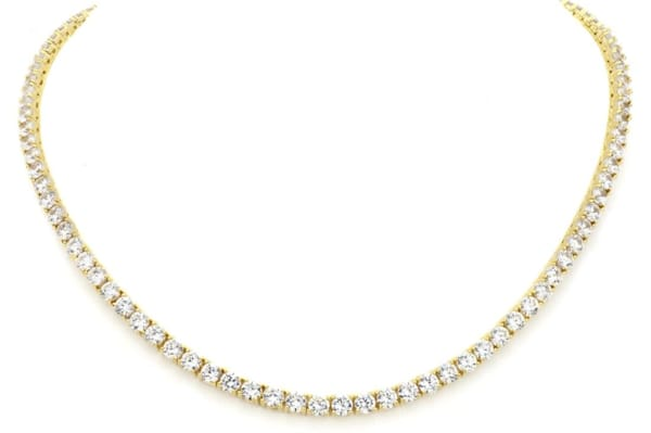 18 KGP Classic Tennis Necklace Bling by Wilkening