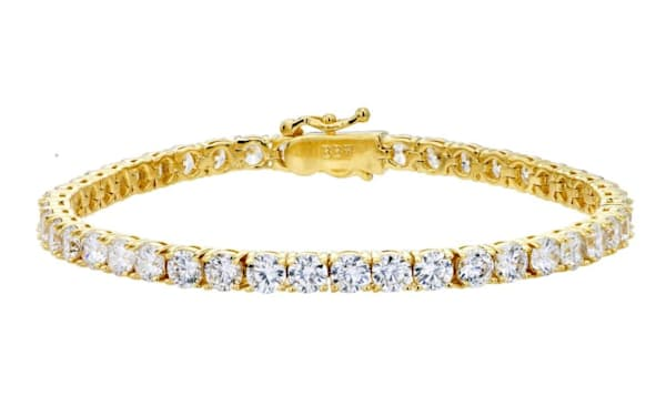 18 KGP 4MM Classic Tennis Bracelet by Bling by Wilkening