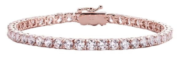 18 KGP Rose Gold 4mm Classic Tennis Bracelet