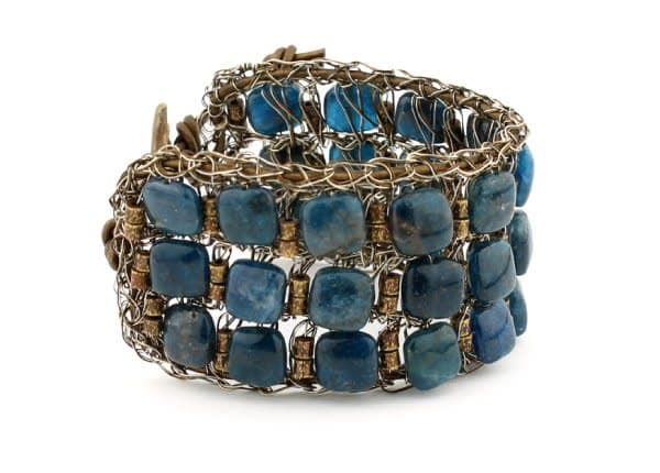 Wide Apatite Cuff by Studio Jere