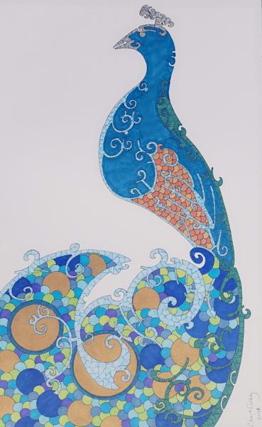 Peacock No. 3 Art | Chris Gray Art