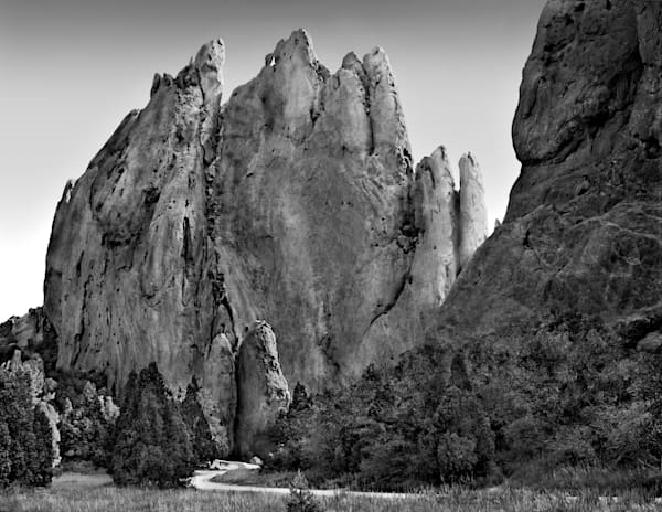 The Hills are Alive Collection - bw | Pathway To The Gods - bw. A fine art black and white photograph by artist and photographer, David Zlotky.