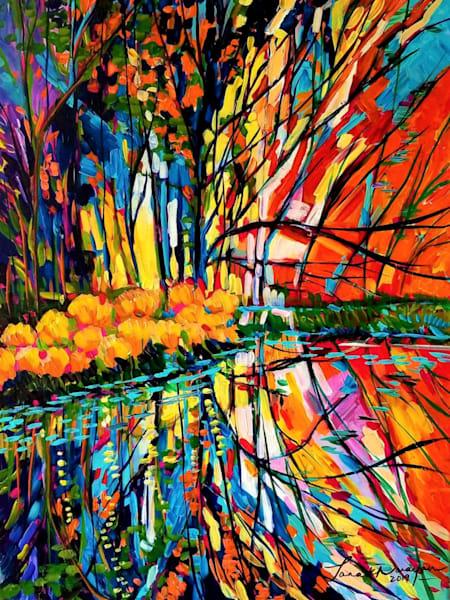 Scarlet Getaway  Art | Janak Narayan Fine Art