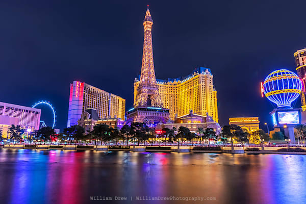 Paris Hotel Las Vegas - Las Vegas Wall Mural | William Drew Photography