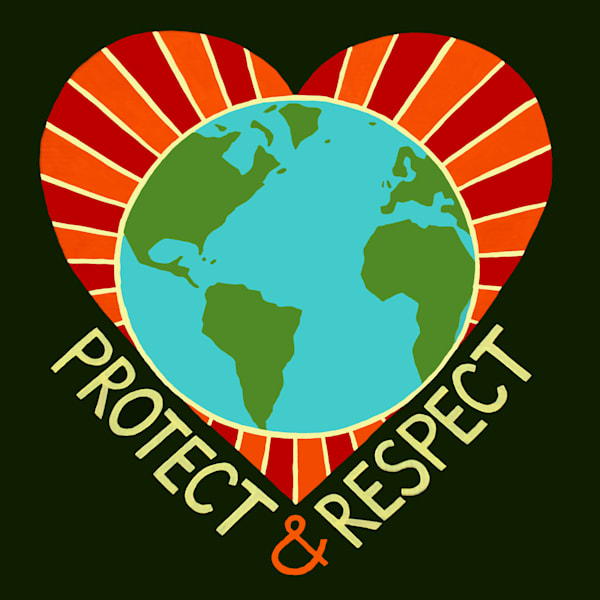 Protect and Respect, a design by artist Jenny Hahn