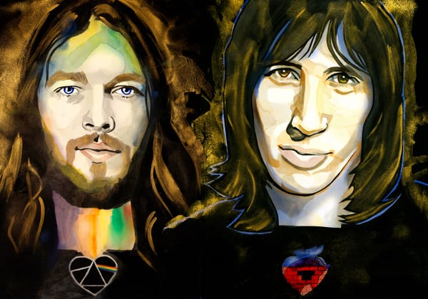 Pink Floyd   David Gilmour, Roger Waters Art | William K. Stidham - heART Art