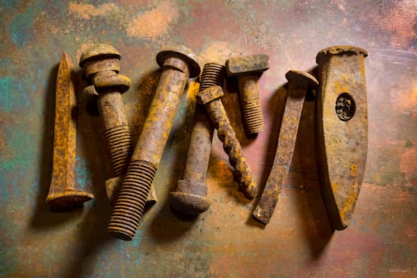 Photographs of rust and rusty objects by Ted Morrison