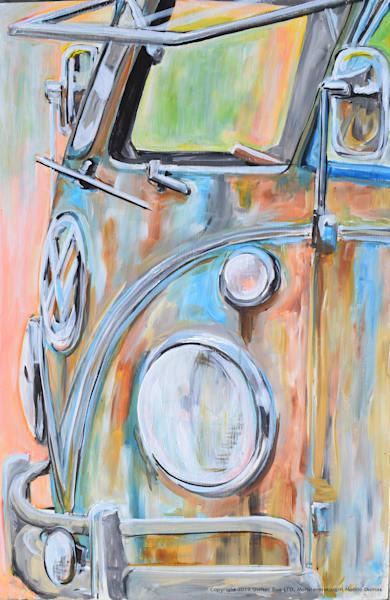 Lg Bus Patina Painting Art | Motorgirl Studios