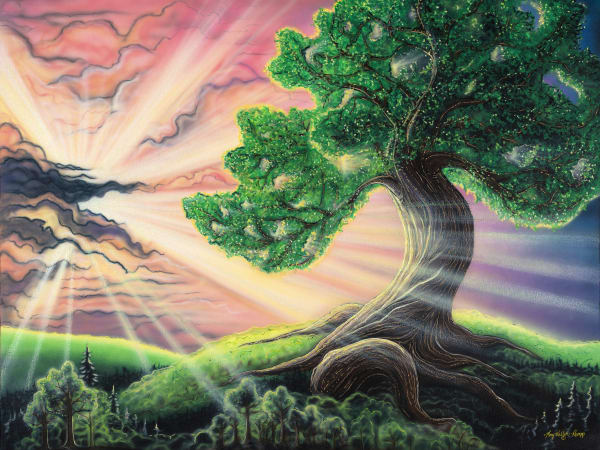 The Tree Of Life is a spiritual paintings inspired by the Hoffman Process