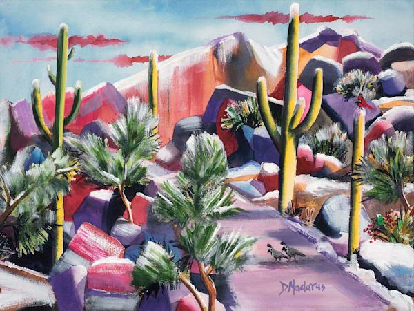 Sabino in Snow Holiday Card by Diana Madaras