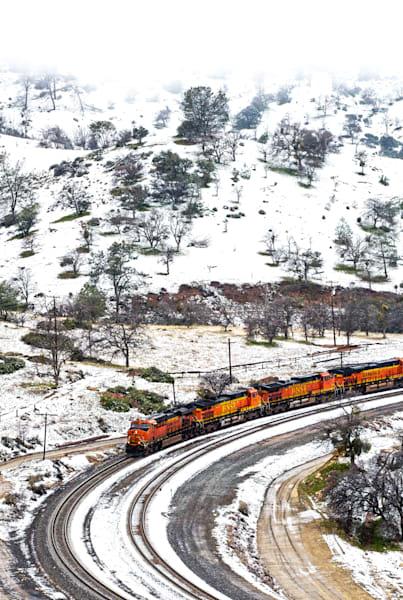 TRAIN'S SNOWY ASCENT