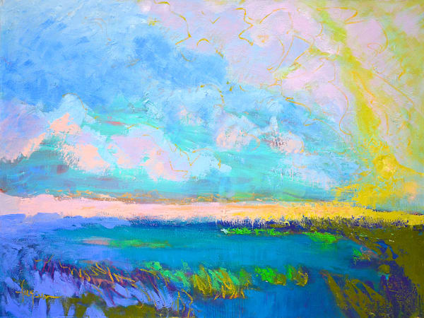 Beautiful Clouds Original Oil Painting by Dorothy Fagan