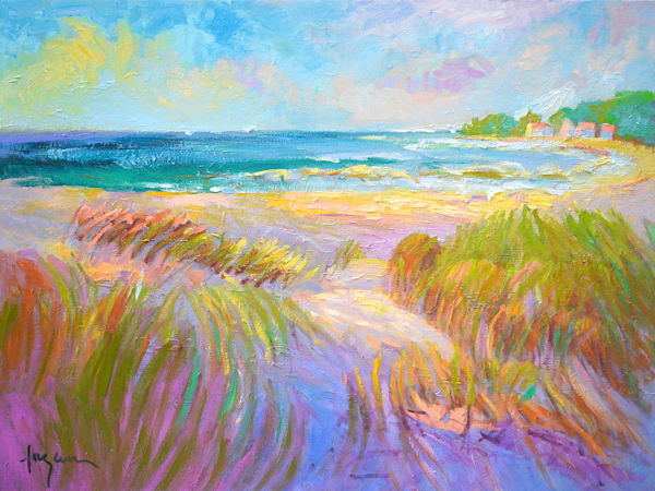 Large Beach Oil Painting, Sparkling Cove by Dorothy Fagan