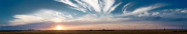 Backroads Collection - color  | Sunset, Western Kansas - color. A fine art color photograph by noted photographer, David Zlotky.
