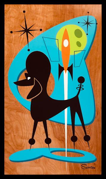 """Astro Poodle"" Original Painting"