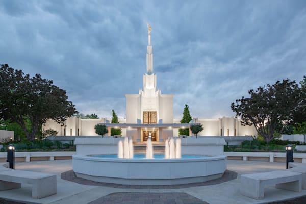 Denver Temple - Cloudy Night