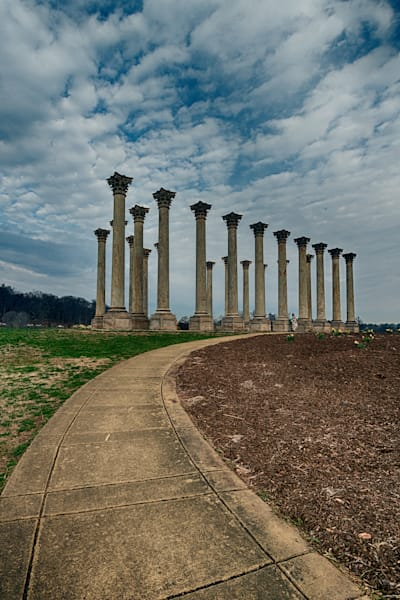 A Fine Art Photograph of a Cloudy Afternoon with the Capitol Columns by Michael Pucciarelli