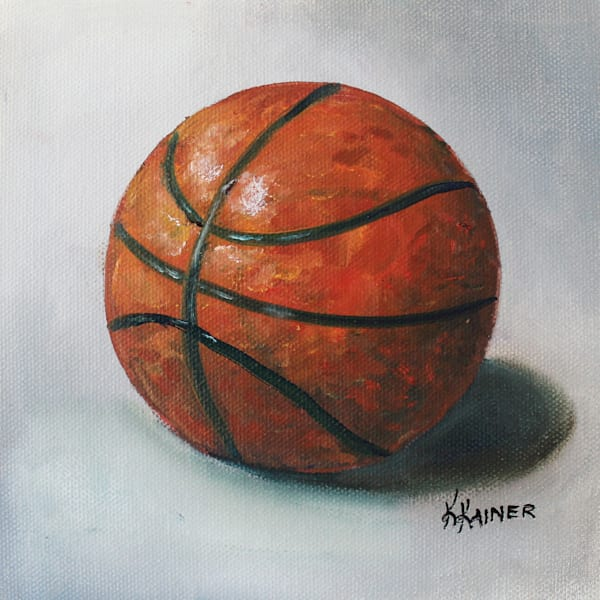 Basketball Sports Art by Kristine Kainer