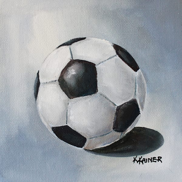 Soccer Ball Sports Art by Kristine Kainer