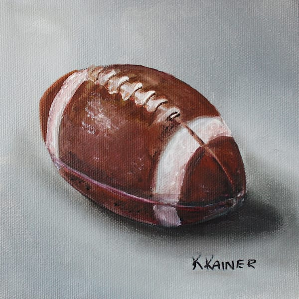 Football Sports Art by Kristine Kainer
