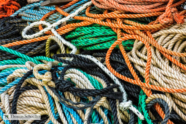 Commercial fishing nets and rope | Abstract fine art photography prints by Thomas Schoeller