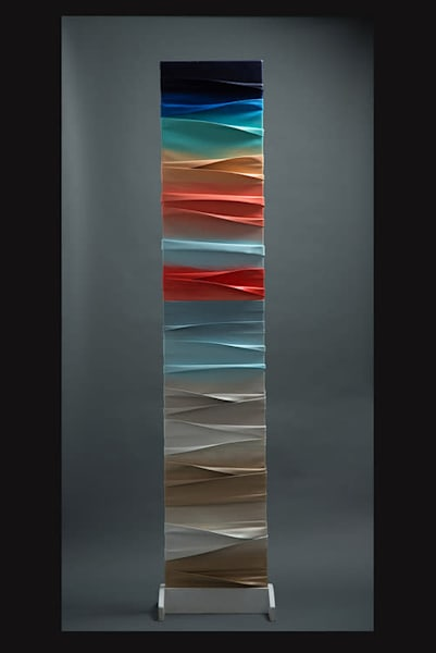 Sculpted Color Sunset Art | Heitmann Art