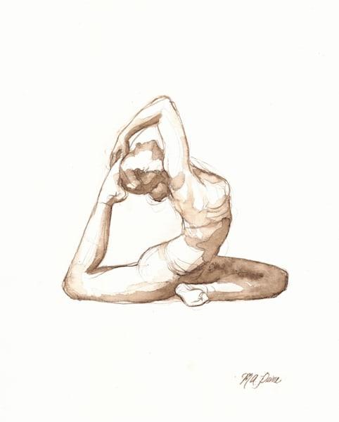 Yoga Drawing Pigeon Pose