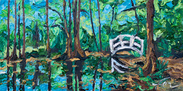 Magnolia Plantation Gardens | oil on canvas board