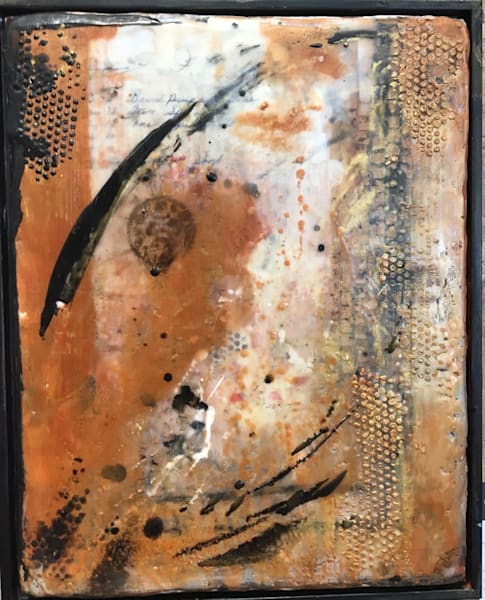 original, encaustic, honey, bee, hive, texture