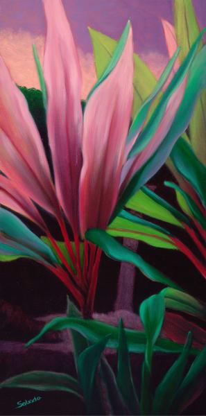 Hawaii Fine Art   Pink Ti by Philip Sabado