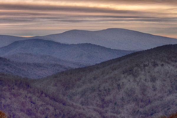 A Fine Art Photograph of a Cold Day Shenandoah by Michael Pucciarelli