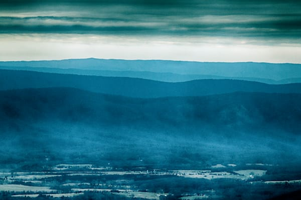 A Fine Art Photograph of a Cloudy Afternoon in Shenandoah National Park by Michael Pucciarelli