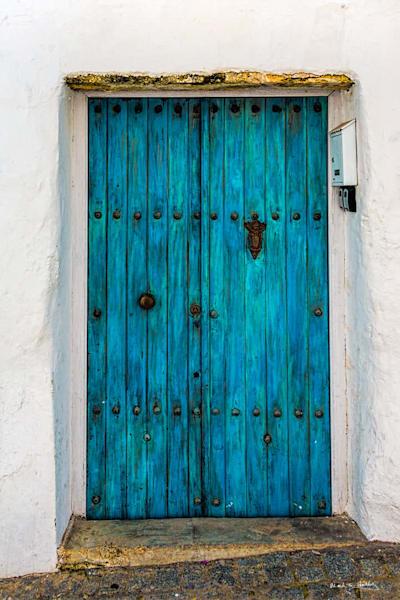 door, turquoise, spain, vejer de la frontera, architecture